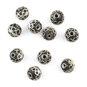 10mm Berber Silver Bicone Beads (Set of 10) - The Bead Chest