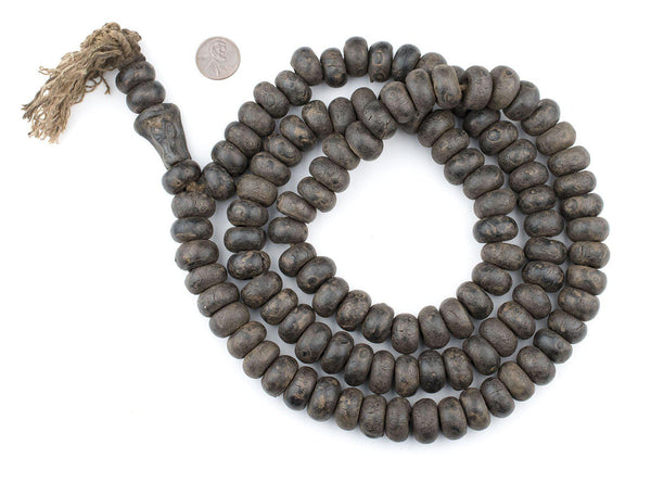 Vintage-Style Jumbo Wood Mala Beads (18mm)