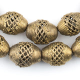 Basket Design Oval Brass Filigree Beads (20x18mm)