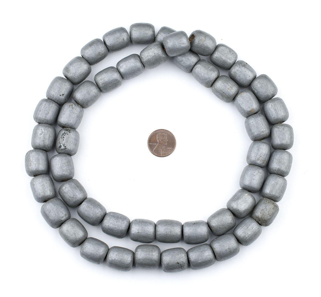 Vintage Ethiopian Wooden Prayer Beads (Silver) - The Bead Chest