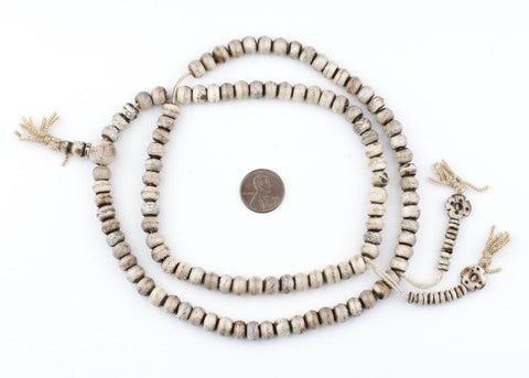 Grey Bone Mala Prayer Beads (8mm) - The Bead Chest