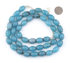 Turquoise Glass Colodonte Beads