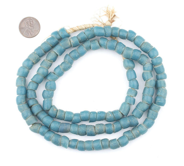 Vintage Turquoise Teal Glass Beads (9mm)