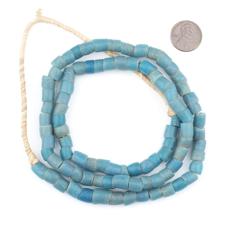 Vintage Turquoise Teal Glass Beads (8mm) - The Bead Chest