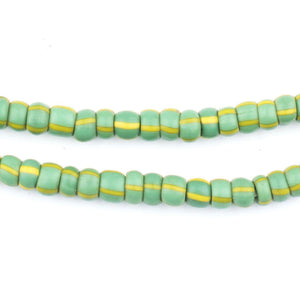 Green & Yellow Chevron Beads (5mm) - The Bead Chest