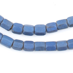 Faceted Russian Blue Glass Beads (7mm) - The Bead Chest