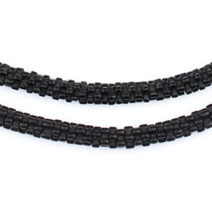 Black Star Glass Snake Beads - The Bead Chest