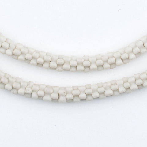 White Star Snake Beads - The Bead Chest