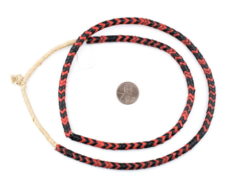 Image of Red & Black Mixed Glass Snake Beads (6mm) - The Bead Chest