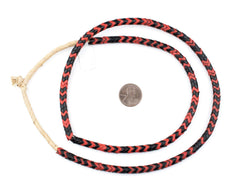 Red & Black Mixed Glass Snake Beads (6mm)