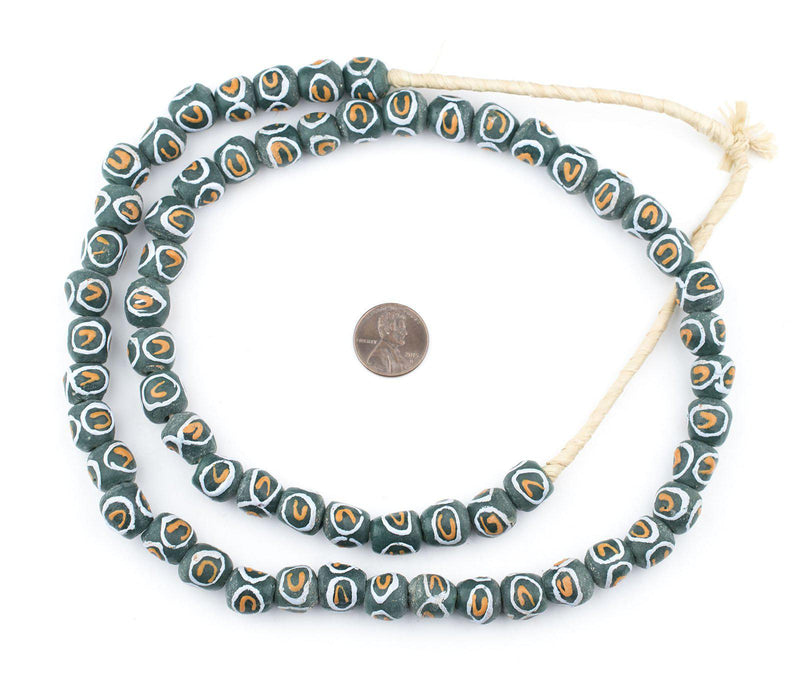 Green Eye Krobo Beads - The Bead Chest