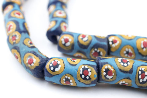 Image of Blue Millefiori Krobo Beads - The Bead Chest