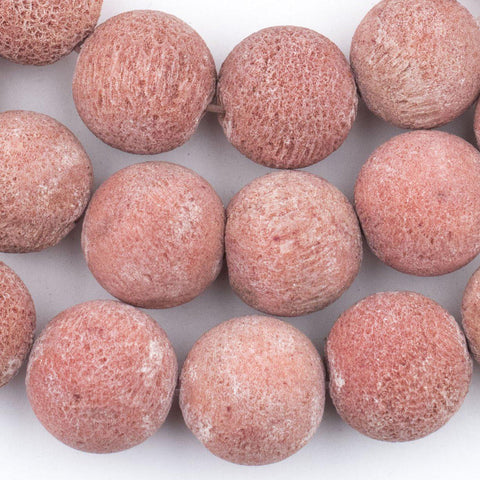 Round Sponge Coral Beads (25 Pack) - The Bead Chest