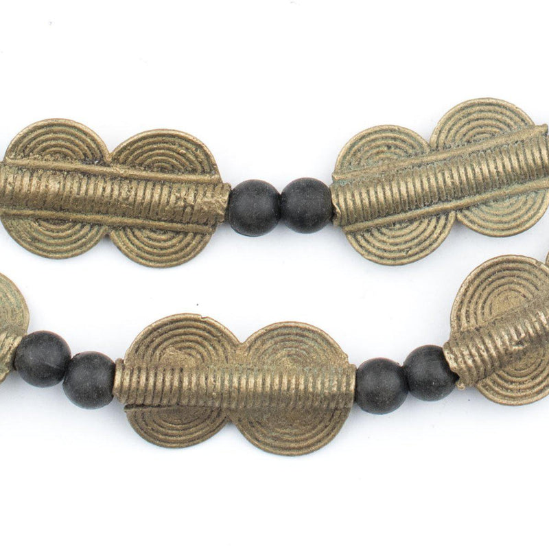 Double Sun Design Baule Brass Beads (25x15mm) - The Bead Chest