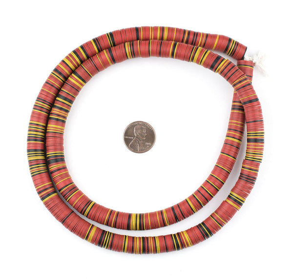 Vintage Mixed Vinyl Phono Record Beads (10mm)