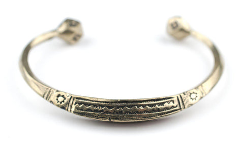 Image of Engraved Tuareg Brass Cuff Bracelet - The Bead Chest
