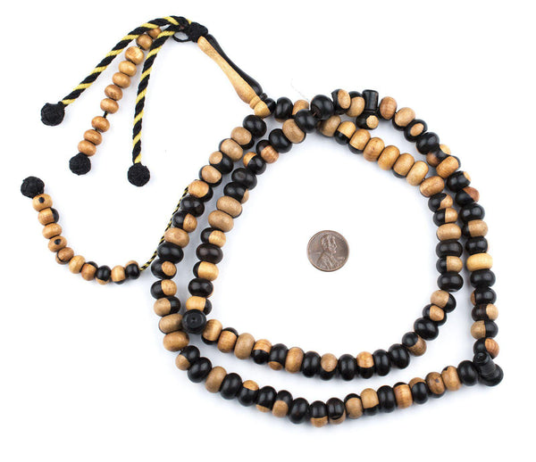 Jumbo Rondelle Ebony Arabian Prayer Beads (12mm)