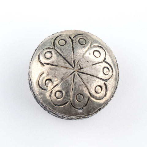 Circular Silver Artisanal Berber Bead (28mm) - The Bead Chest