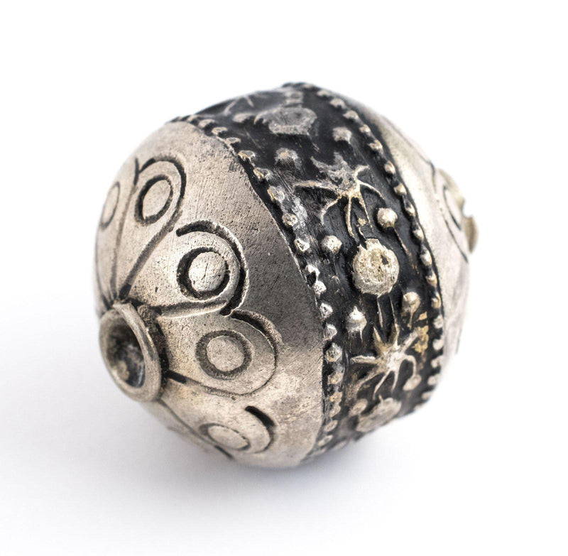 Round Silver Artisanal Berber Bead (22mm) - The Bead Chest