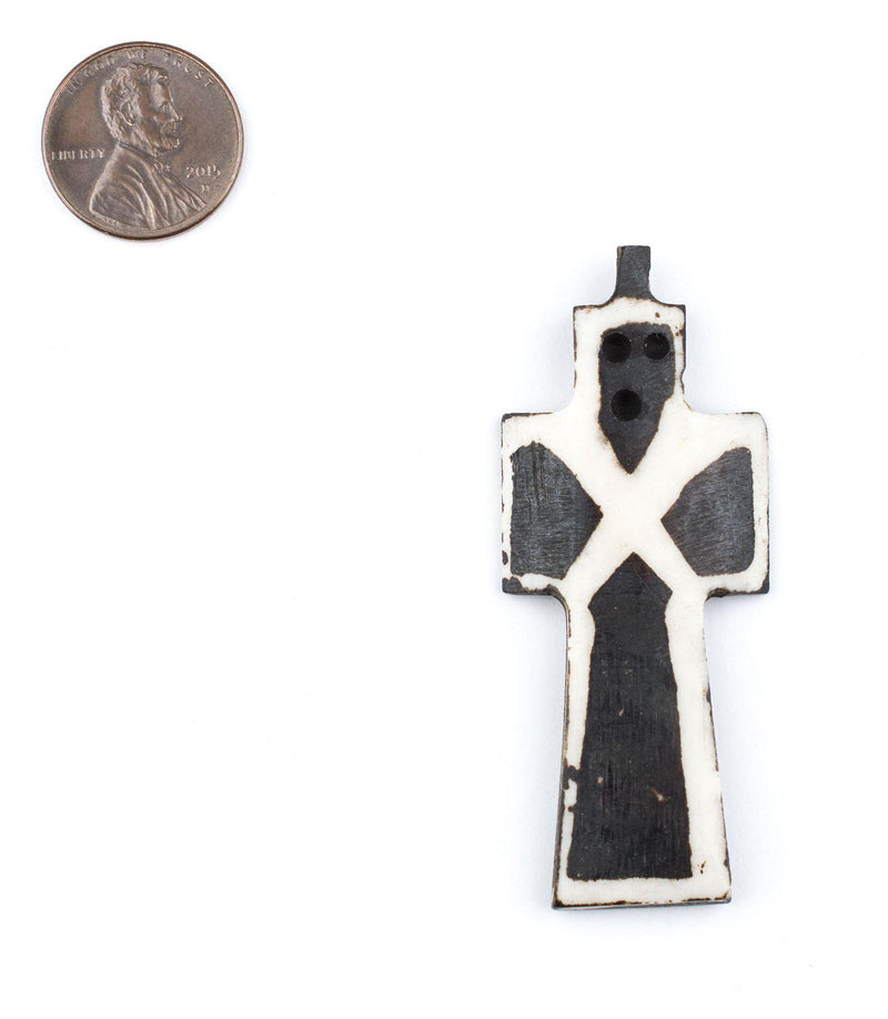 Batik Bone Cross Pendant (Essence) - The Bead Chest