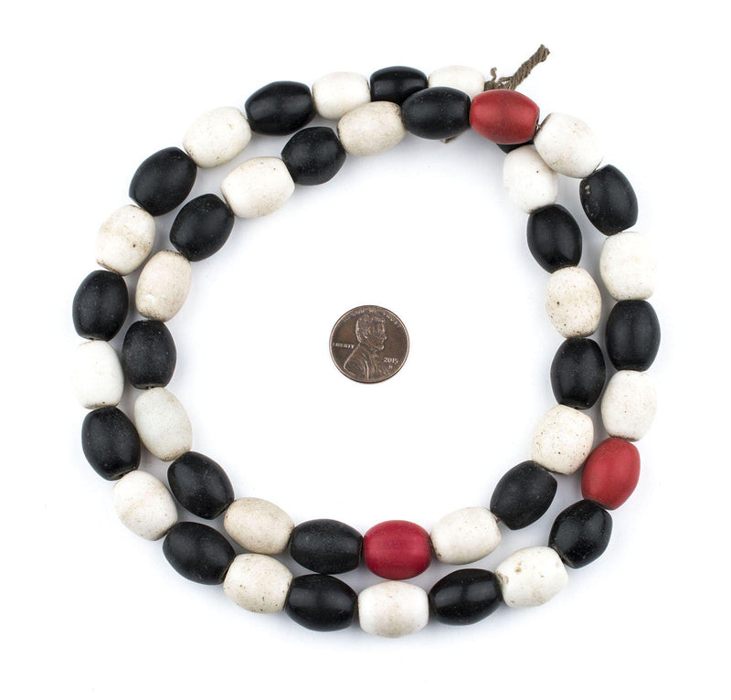 Black & White Medley Colodonte Trade Beads - The Bead Chest