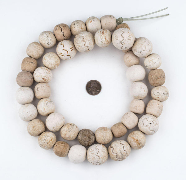 South African Round Natural Clay Beads (Traditional)