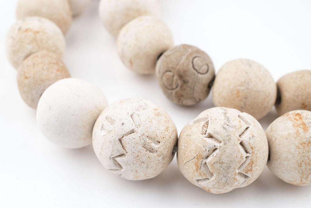 South African Round Natural Clay Beads (Traditional) - The Bead Chest