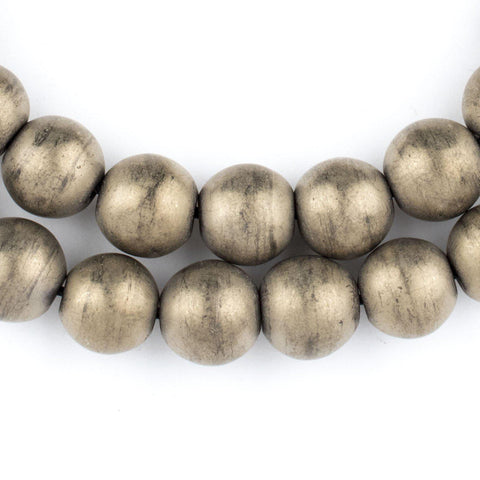 Brass Metallic Round Hematite Beads (12mm) - The Bead Chest