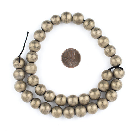 Image of Brass Metallic Round Hematite Beads (12mm) - The Bead Chest