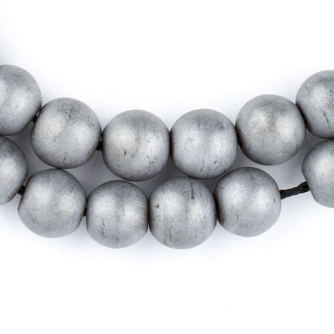 Silver Metallic Round Hematite Beads (10mm) - The Bead Chest