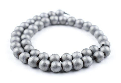 Image of Silver Metallic Round Hematite Beads (10mm) - The Bead Chest
