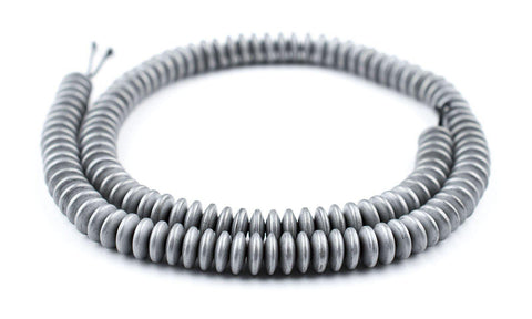 Silver Metallic Saucer Howlite Beads (8mm) - The Bead Chest