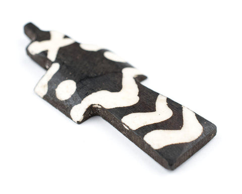 Image of Batik Bone Cross Pendant (Dotted) - The Bead Chest