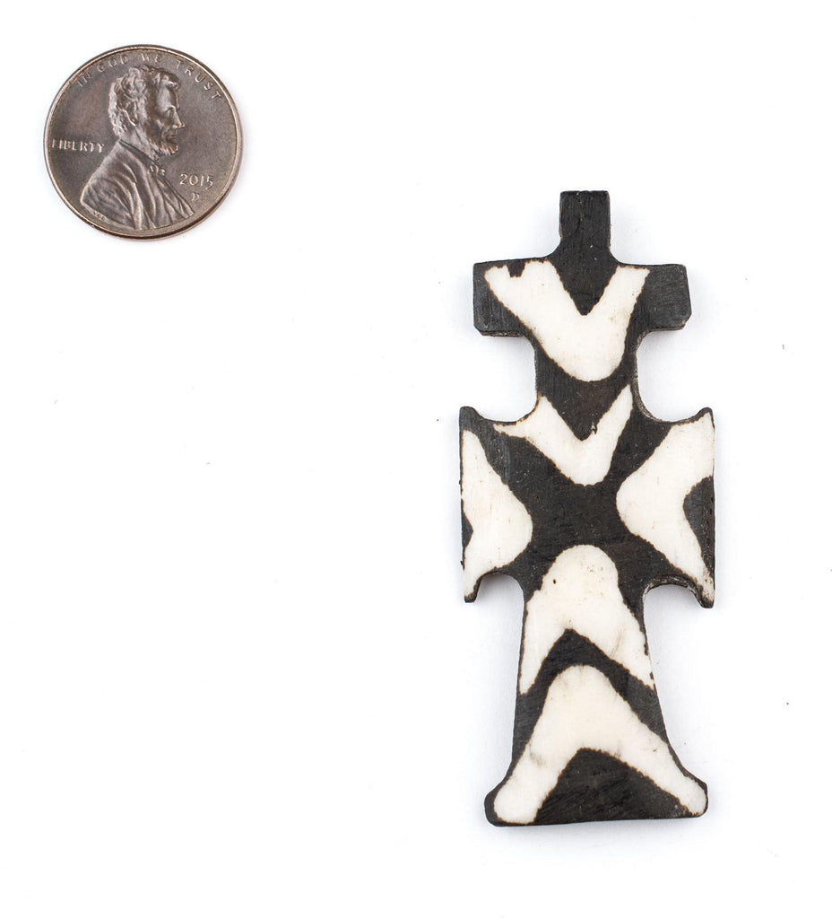 Batik Bone Cross Pendant (Traditional) - The Bead Chest