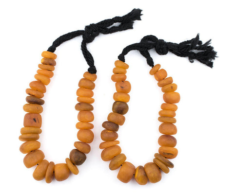 Image of Apricot Color Moroccan Horn Beads - The Bead Chest
