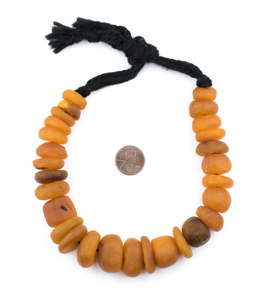 Apricot Color Moroccan Horn Beads