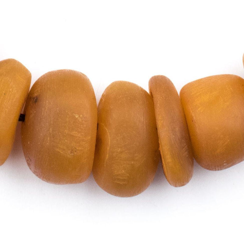 Apricot Color Moroccan Horn Beads - The Bead Chest