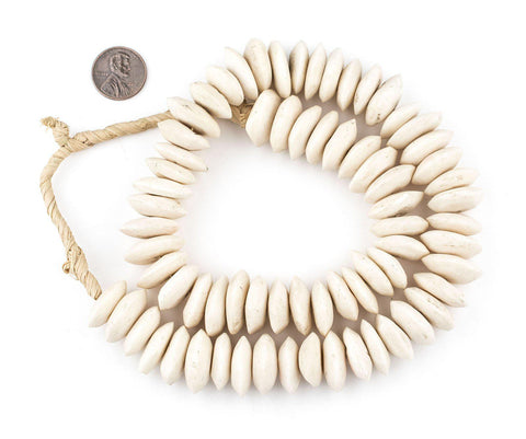 White Bone Beads (Saucer) - The Bead Chest
