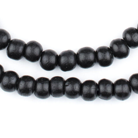 Black Bone Mala Beads (8mm) - The Bead Chest