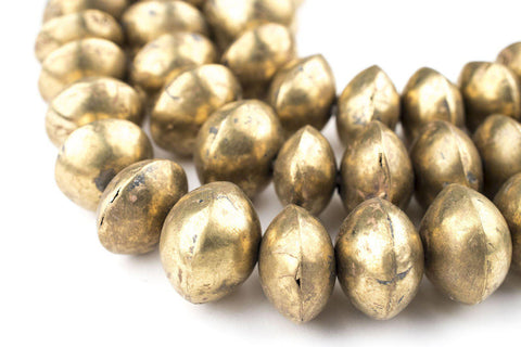 Mali Brass Bicone Beads (9x14mm) - The Bead Chest