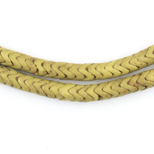Yellow Glass Snake Beads (6mm, Long Strand) - The Bead Chest