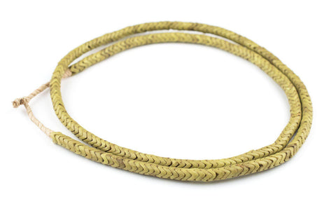 Image of Yellow Glass Snake Beads (6mm, Long Strand) - The Bead Chest