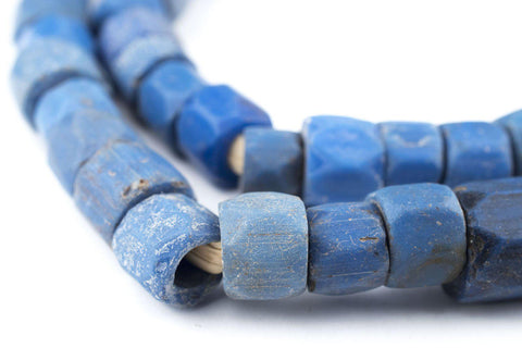 Faceted Russian Blue Glass Trade Beads (10mm) - The Bead Chest