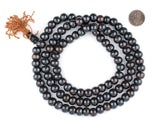 Dark Brown Mala Bone Beads (10mm)