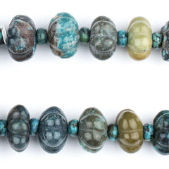 Flower-Shape Authentic Turquoise Beads