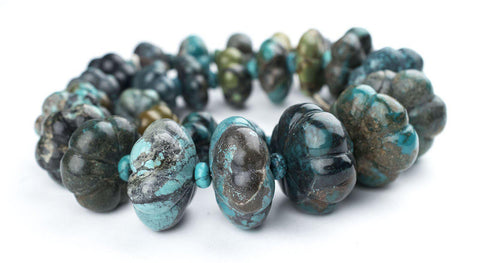 Image of Flower-Shape Authentic Turquoise Beads - The Bead Chest