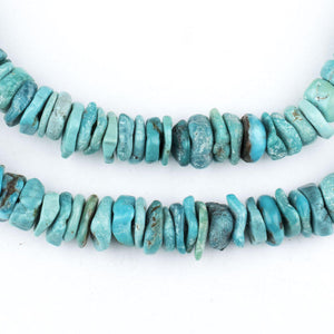 Blue Turquoise Stone Heishi Beads (7mm) - The Bead Chest