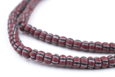 Matted Brown Chevron Beads (4x5mm) - The Bead Chest