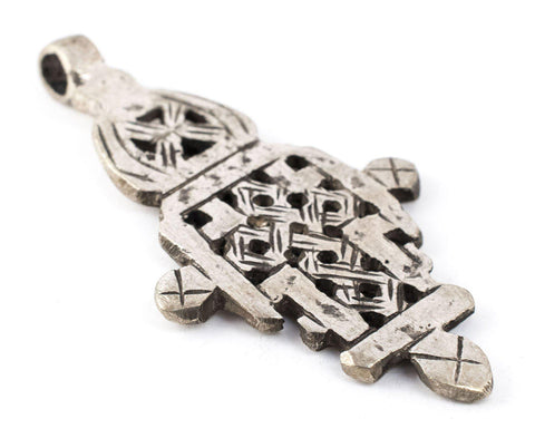 Silver Ethiopian Coptic Cross (66x37mm) - The Bead Chest