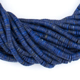 Sliced Cylinder Heishi Lapis Lazuli Beads (4mm)
